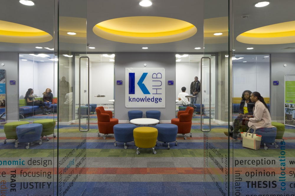 Knowledge hub facility at Global Point residence in Nottingham